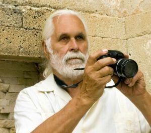 John Lamkin at Mitla Zapotec Ruins, Oaxaca Valley, Mexico