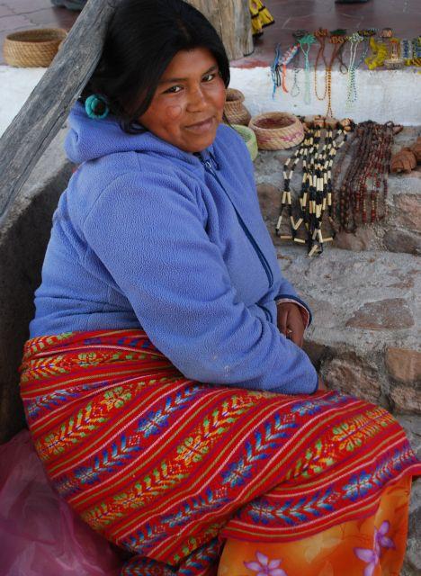 Tarahumara Girl with Heart Tattoo & Smile - Sierra Lodge, Cusarare, Chihuahua, Mexico
