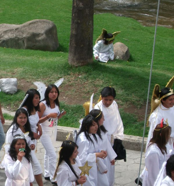 Xmas procession (beneath window)2 w lost angel