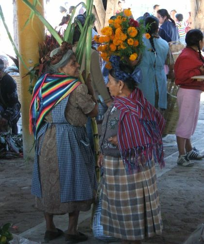 Two Women in Teotitlan Market, Oaxaca Mexico
