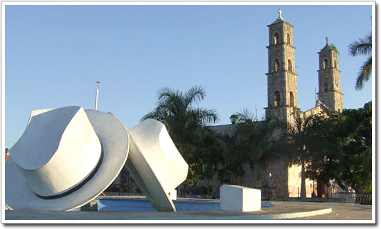 Hat Monument and Church, Becal, Campeche, Mexico