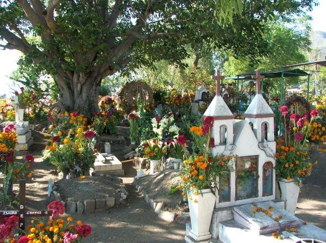 Day of the Dead - Cemetery, Teotitlan, Oaxaca, Mexico  © John Lamkin