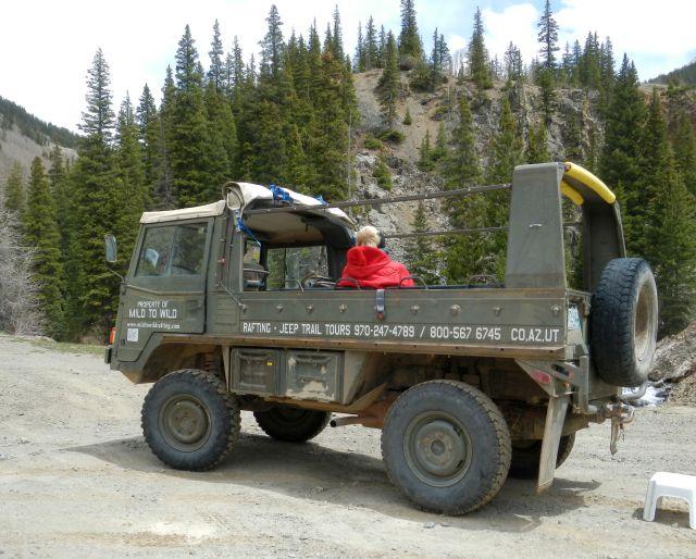 Austrian Pinzgauer high-mobility all-terrain military vehicle  ©John Lamkin