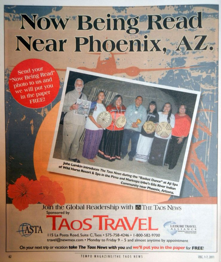 Tempo Magazine, Taos News - John Lamkin